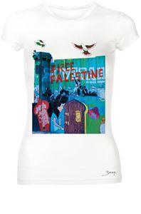 """Bild von Free Palestine """"Snow White"""" - Women Round Neck"""